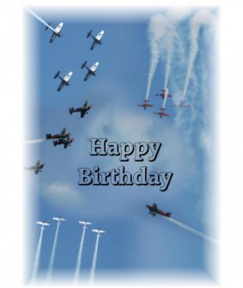 Birthday Card Aeroplanes...
