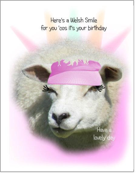 Birthday Card Sheep HAJS
