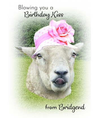 Birthday Card Sheep ABK2