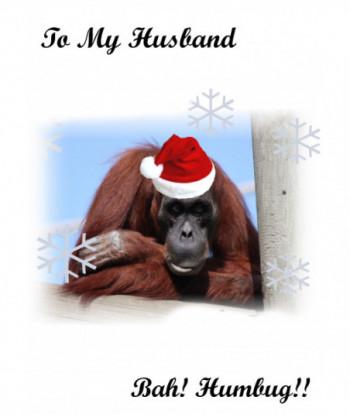 Christmas Card Husband Bah...