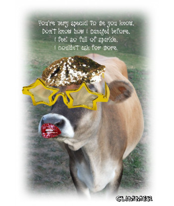 Cow Card Glimmer