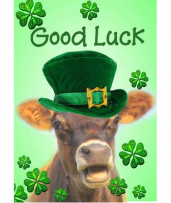 Good Luck Cow Card GL2