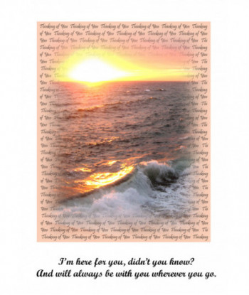 Thinking About You Card IHF01