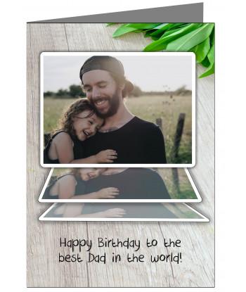 Personalised Dad Birthday Card