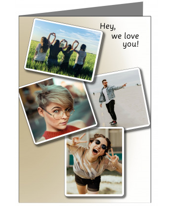 Personalised We Love You Card