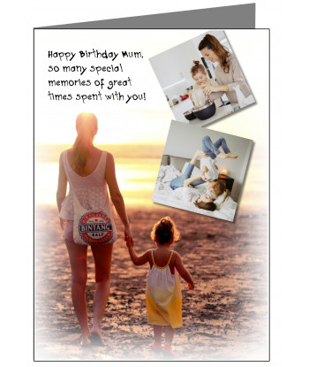 Personalised Mum Birthday Card