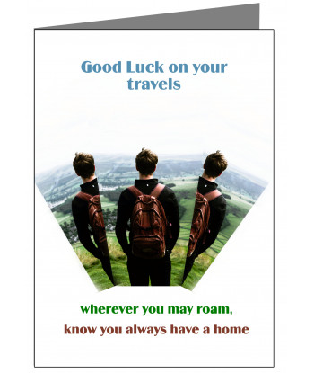Personalised Leaving Home Card