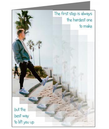 Inspirational Card First Step