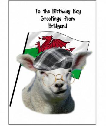 Birthday Card Sheep GFJ1
