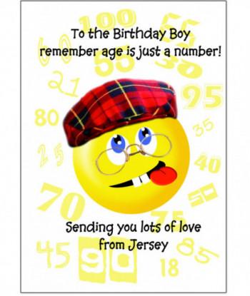 Birthday Card Smiley Boy
