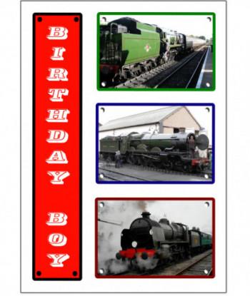 Birthday Card Train