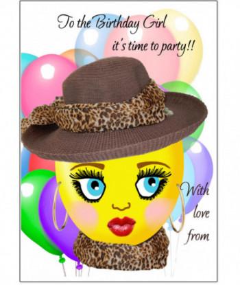 Birthday Card Smiley Girl