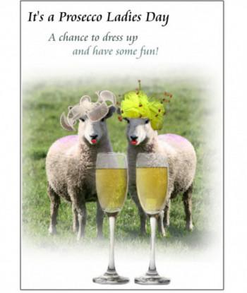 Birthday Card Sheep Prosecco