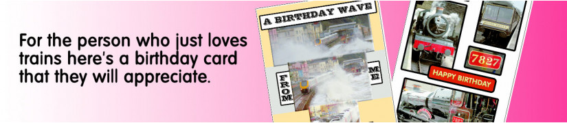 Cards With a Difference Birthday Trains